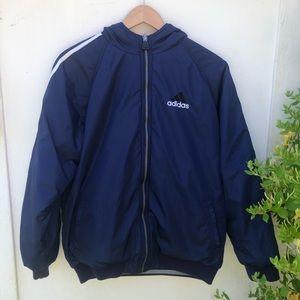 Vintage Adidas Retro Puffer Reversible Jacket